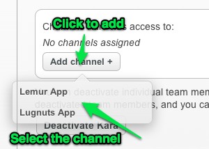 Add your team member to the correct channels